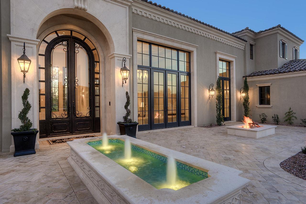 1 Formal Mediterranean Luxury Home front yard