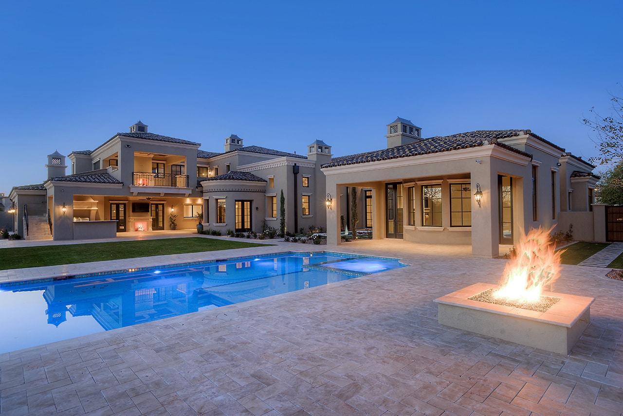 18 Formal Mediterranean Luxury Home backyard