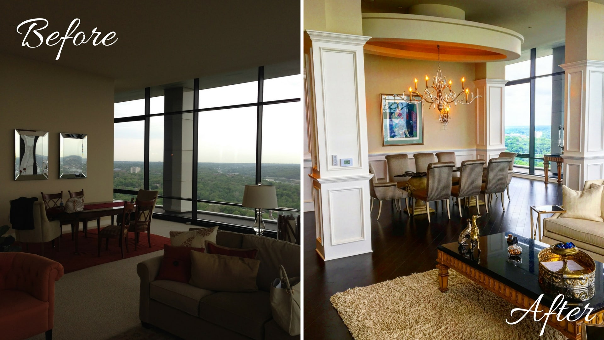 Penthouse Dining Room Before and After