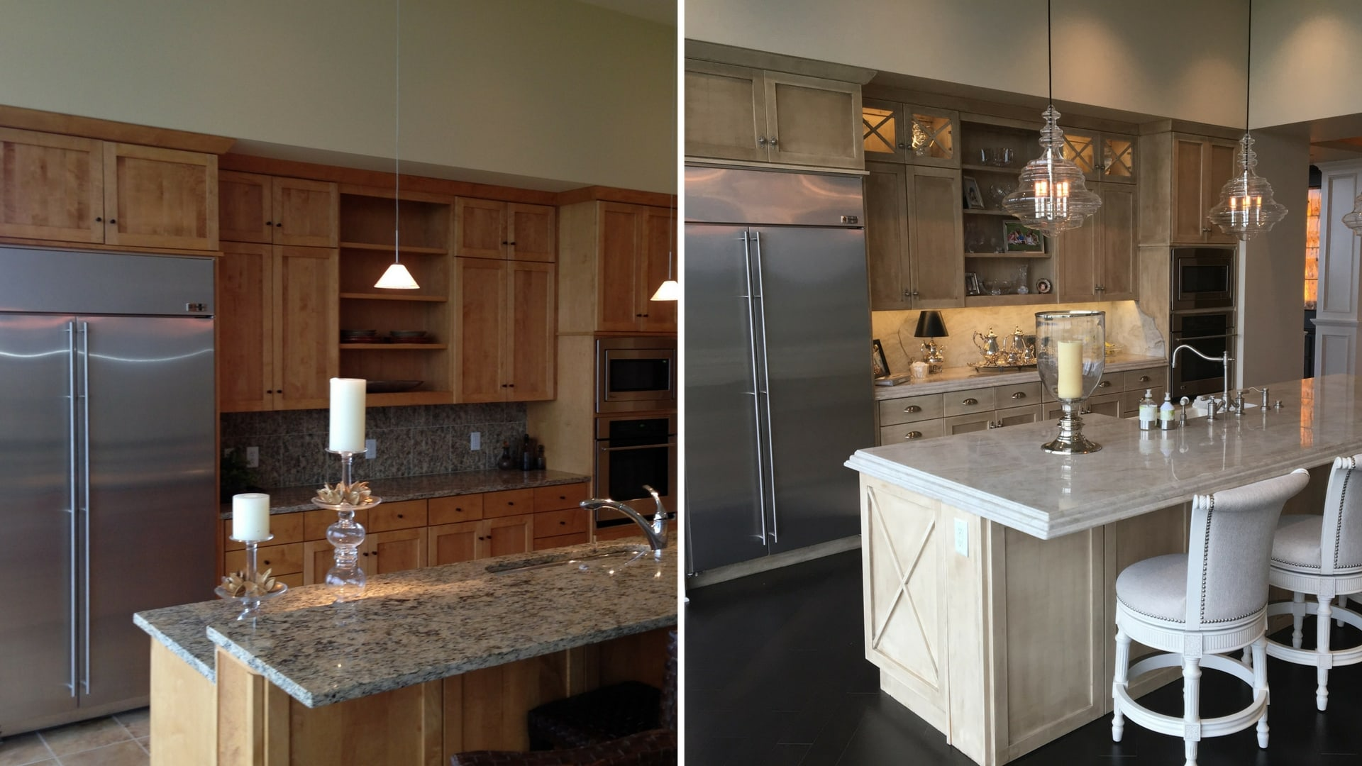 Penthouse Kitchen Before and After