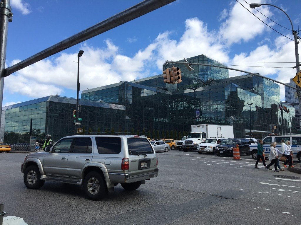 all glass high rise where trade show is NYC.JPG